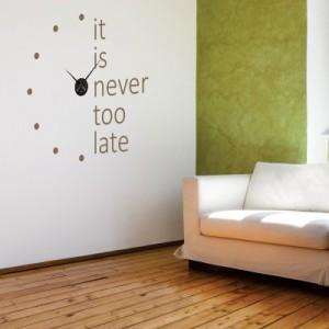 Orologio da parete adesivo l 39 effetto tridimensionale ti for Orologi da parete adesivi